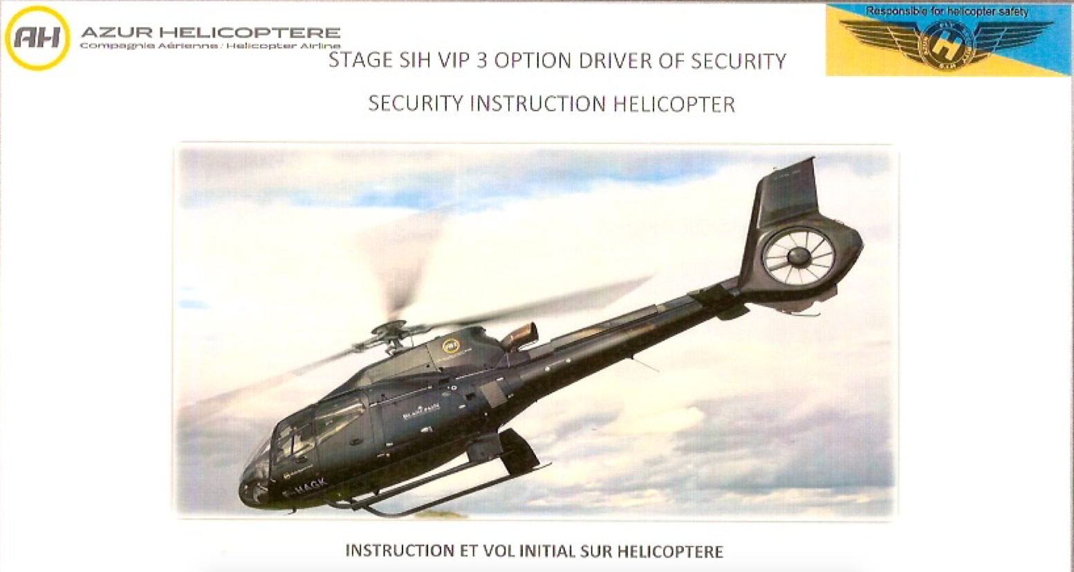 Security Instruction Helicopter